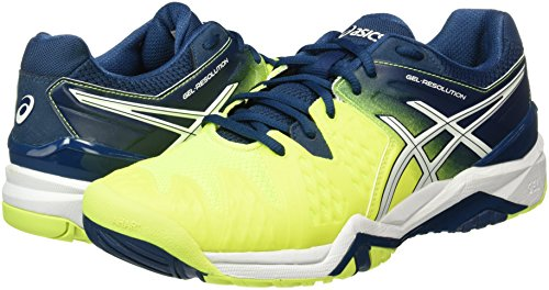 resolution Asics Tennis Multicolore white De Gel poseidon safety Homme 6 Chaussures Yellow pawqW5TwR