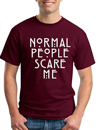 Shop4Ever Normal People Scare Me T-shirt Sayings Shirts