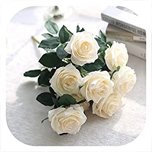 Memoirs- Artificial Rose Flowers 10 Heads Silk Flower Bouquet Home Decoration Accessories Wedding Flowers Vivid Home Decoration,4 68