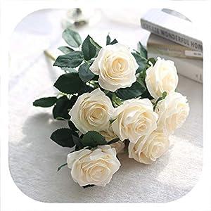 Memoirs- Artificial Rose Flowers 10 Heads Silk Flower Bouquet Home Decoration Accessories Wedding Flowers Vivid Home Decoration,4 33