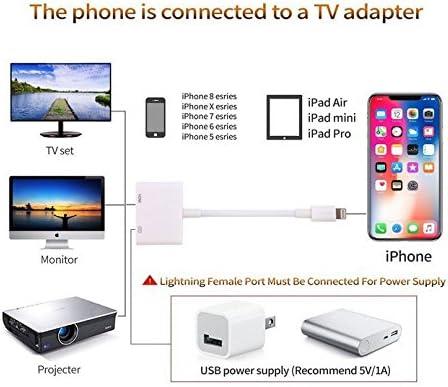 Saiwill Phone auf HDMI Adapter Digital AV Adapter 1080P HDTV HDMI Kabel f/ür Phone XS//XSmax//XR//X 8//7//6 Plus iPad iPod zu TV