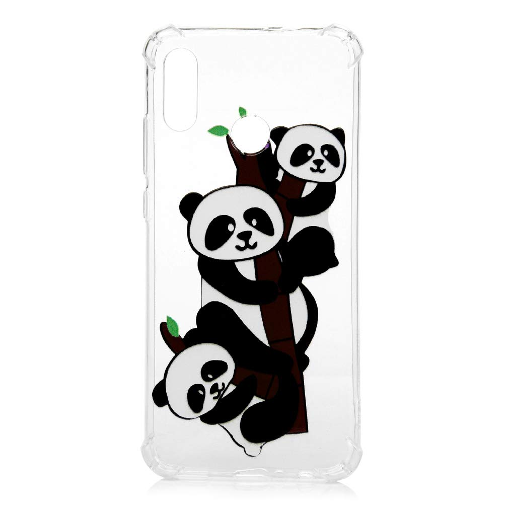 Silicone Housse Protection Bumper Antichoc Case Cover Coques Coquille en TPU Anti Chute Monter Le Panda+Licorne GuardGal 2xCoque pour Huawei Honor 10 Lite//Huawei P Smart 2019 Universel