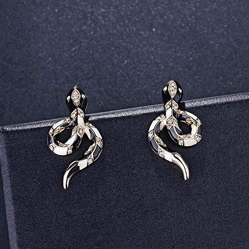 Weiwei Men's Earrings Men's Ear Nails XJH Alloy Earrings Fashion Serpentine Large Fringed Earrings European and American Exaggerated Earrings ()