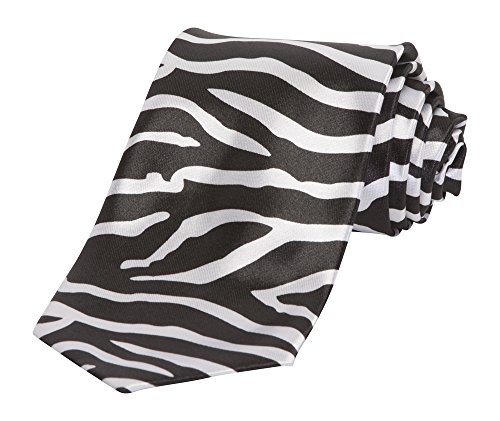 New Zebra Print Tie - Black / - Shopper Zebra