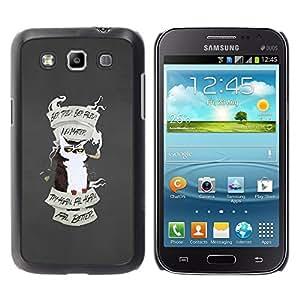 TopCaseStore / la caja del caucho duro de la cubierta de protección de la piel - Motivational Owl Try Again - Samsung Galaxy Win I8550 I8552 Grand Quattro