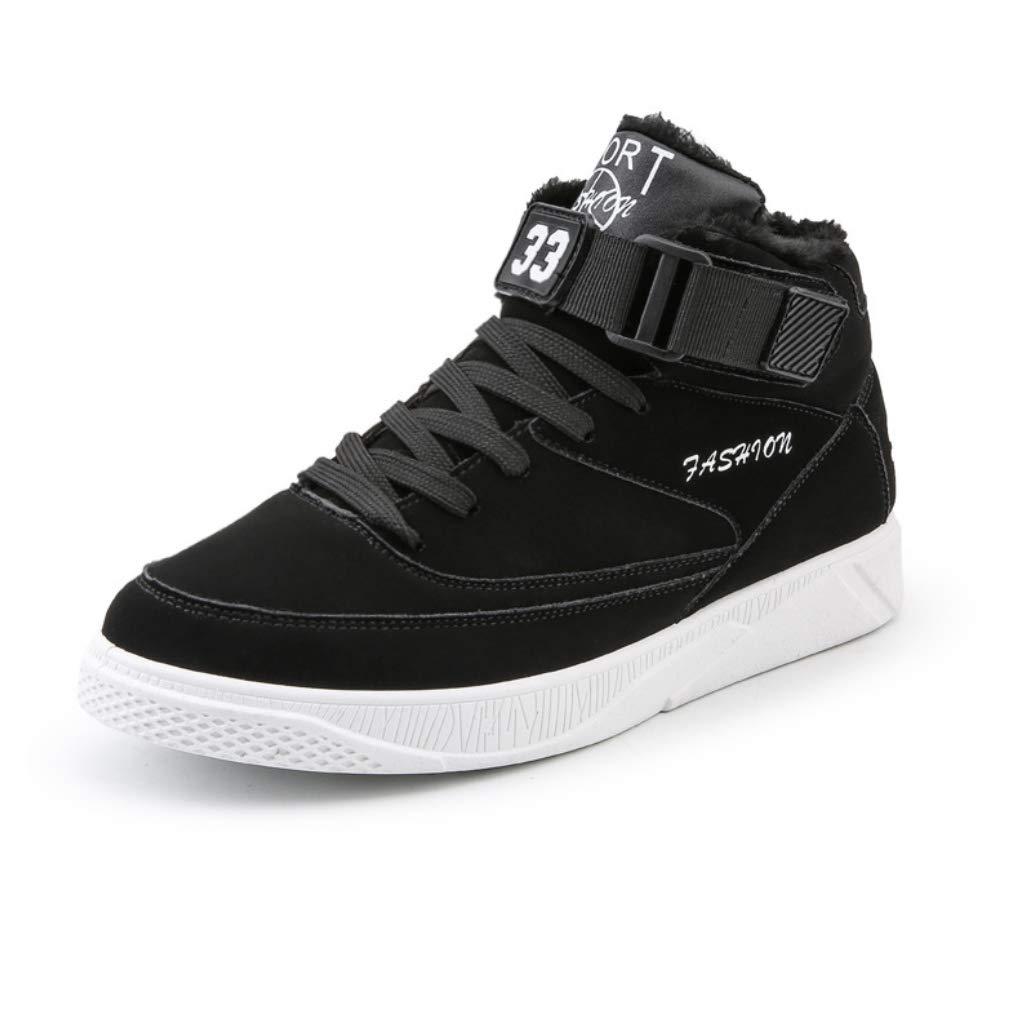 GAOXP Herbst-und Winter-Neutrend Gelegenheitsschuhe Herren im Freien komfortable Rutschfeste High-Slip-Schuhe,schwarz,39