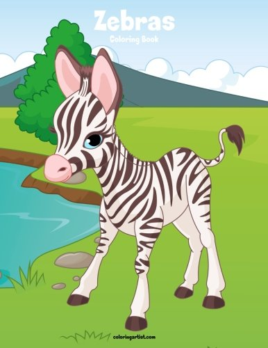 Zebras Coloring Book 1 (Volume - Book Coloring Zebra
