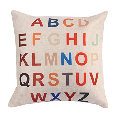 ❤Luca Word Line Pillow Case ❤ For Happy Halloween And Home Decor (G) -