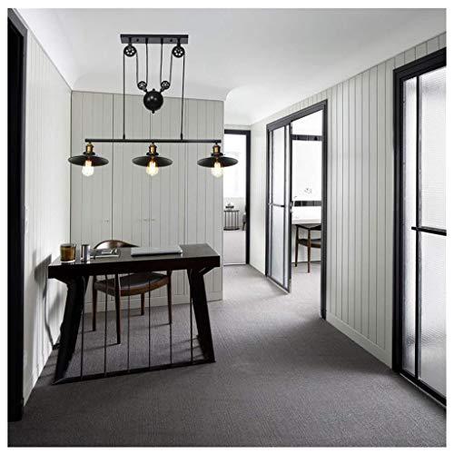 Chandelier Mount Lighting, Midress Iron Hill 3-Lights Celling Light Fixture Pulley Pendant Pendant Lamp Dining Room Bedroom Livingroom