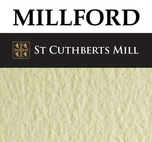 4 Sheets Millford Watercolour Paper 300gsm (140lbs) NOT - 1/4 imperial (11x15