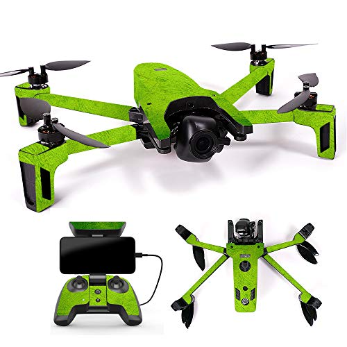 MightySkins Skin for Parrot Anafi Drone – Green Cement | Protective, Durable, and Unique Vinyl Decal wrap Cover | Easy to Apply, Remove, and Change Styles | Made in The USA Review