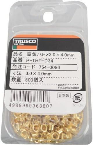 TRUSCO(トラスコ) 電気ハトメ 3.0X4.0 500個入 PTHPD34
