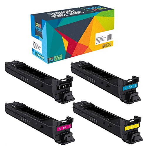 Magicolor 4650en Color Laser (Do it Wiser Compatible Extra High Yield Toner Cartridges Replacement for Konica Minolta Magicolor 4650 4650EN 4650DN 4690MF 4695MF 4-Pack)