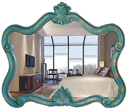 Mediterranean Style Bathroom Mirror Wall Mounted Dressing Table Wall Decoration Mirror (Color -