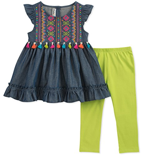 - Kids Headquarters Baby Girls Tunic Set-Capsleeves, Dark Blue/Green, 18M