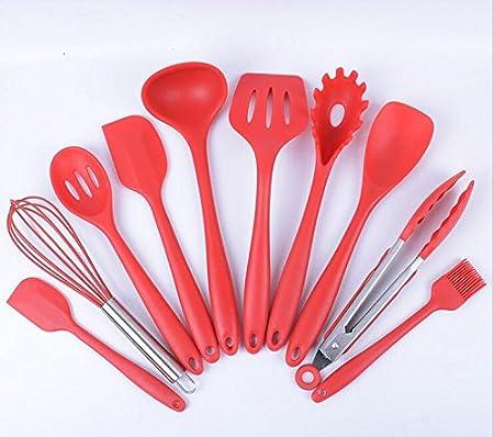 Treasure-house 10pcs silicona Juego de utensilios de cocina ...