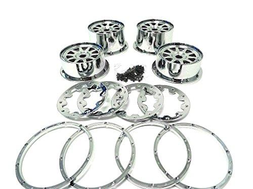 1/5 Rovan Chrome Plated Plastic Rims Fit HPI Baja 5B Rovan & King Motor Buggy