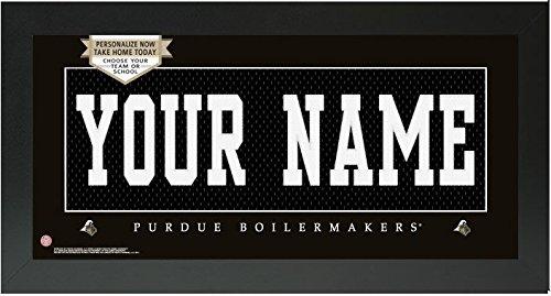 Purdue Boilmakers NCAA Custom Jersey Nameplate Framed Sign