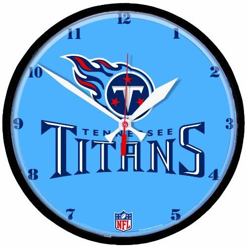 NFL Tennessee Titans Round Clock (Clock Wincraft Round Nfl)