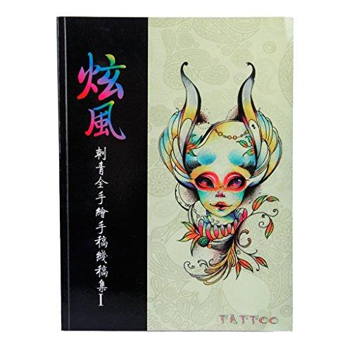 Tattoo Supplies Reference Book Picture Instruction Sheet Flash Art Flowers Butterflies Animals