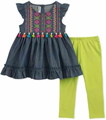 Kids Headquarters Girls' Tunic Set-Capsleeves