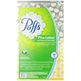 Puffs Plus Lotion Facial Tissues, 4 Family Boxes, 124 Tissues Per Box, 496 Count