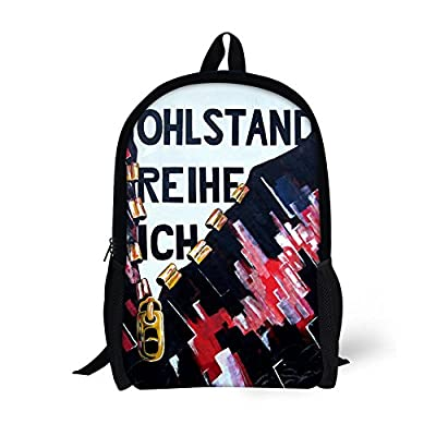 ThiKin Boys Girls Personalized Wing Print Cute Kids School Bag