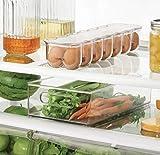 Refrigerator Egg Tray, Premium Quality, Clear Color, Plastic Material, Set Of 2 Pieces, Stackable, Egg Holder, Refrigerator Organizer, Storage, 14 Eggs Capacity & E-Book Home Decor