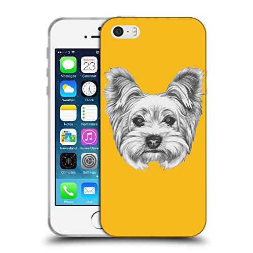 GoGoMobile Coque de Protection TPU Silicone Case pour // Q05120602 Chien dessin ambre // Apple iPhone 5 5S 5G SE