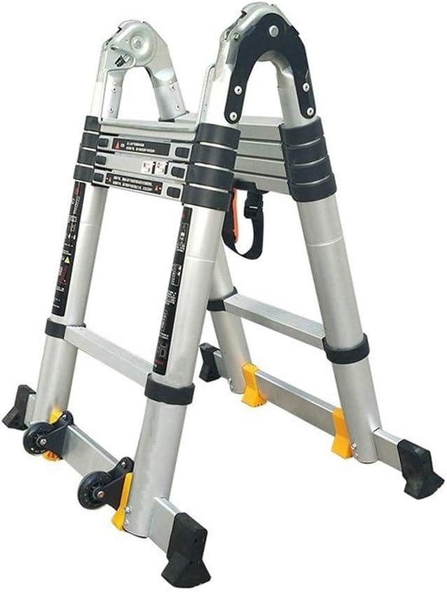 Extensibles Escaleras de tijera multiusos Escaleras telescópicas de extensión Aleación de aluminio Escaleras plegables para áticos Energía, jardín, herramientas de mano 5 tamaños: Amazon.es: Bricolaje y herramientas