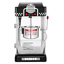 Great Northern Popcorn 2-1/2-Ounce Black Tabletop Retro Style Compact Popcorn Popper Machine with Removable Tray