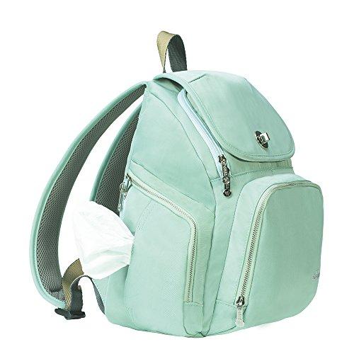 Sunveno Multifunción Impermeable Bolso cambiador de pañales Mochila de pañales para mamá con cambiar de mat (azul) verde
