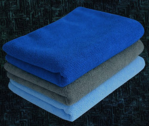 Simplife Microfiber Gym Towels Sports Travel Towels Super Absorbent Fast Drying Hand Face Towel Set Outdoor Running Towels 3 Pack 16 Inch X 32 Inch