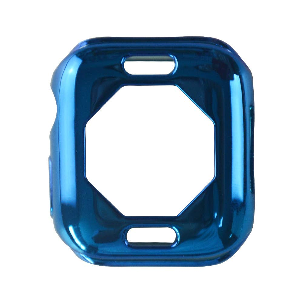 iumei Apple Watch Serie 4 Smart Watch Protection Frame, Fashion Quick Release Soft Sport Plating Ultra-Slim Protected Case Cover for Apple Watch Series 4 40mm (Blue)