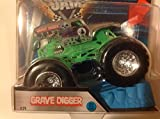 Hot Wheels Monster Jam Grave Digger Silver 2016 New Look Includes Stunt Ramp #29