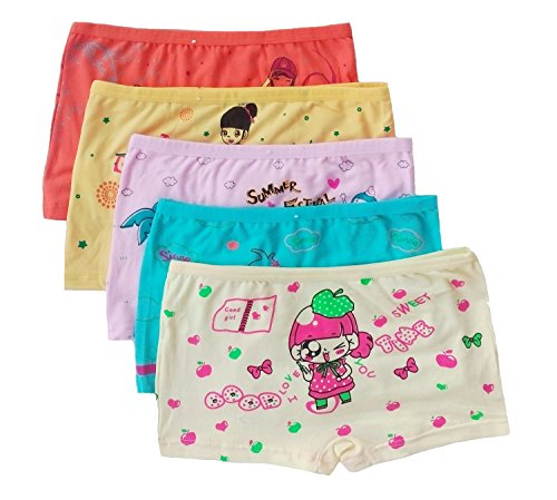 Ya Li Ya Girls Boyshort Underwear 5 Pack (3-4 years)