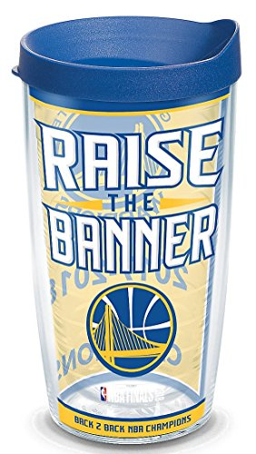 Tervis 1304667 Golden State Warriors 2018 Nba Champions Insulated Tumbler, 16 oz, Clear