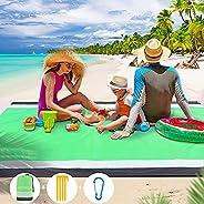 Beach Blanket Sand Free Waterproof Beach Mat Outdoor Pocket Picnic Blanket Lightweight Portable Picnic Blanket