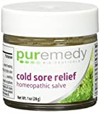 Puremedy Unscented Cold Sore Relief Homeopathic Salve, 1 Ounce