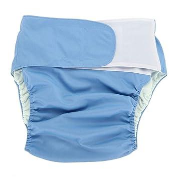 para ancianos 1 pa/ñal ajustable Negro Pa/ñales para adultos lavable y reutilizable