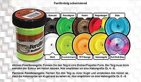 FTM TFT Trout Finder Bait Big Banana Glitter Paste 50g Rot Schwimmend 7323059 Banane Forellenteig Forellenpaste Teig Paste Forellenangeln