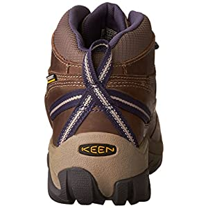 KEEN Women's Targhee II Mid WP-W Hiking Boot, Goat/Crown Blue, 8.5 M US