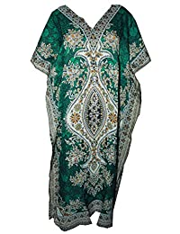 Odishabazaar Womens Plus Size Boho Hippie Dashiki Print Kaftan Dress
