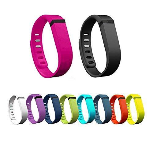Hometalks 10pcs Sport Ersatzschweißband mit Schließe für Fitbit Flex (ohne Tracker) + 1pcs geben Hometalks Karabiner--small