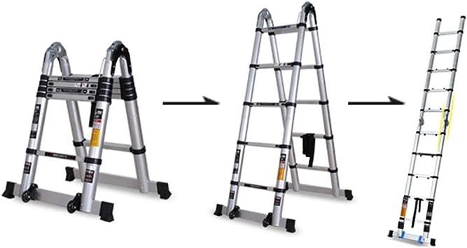 Escalera del ático, aluminio, ligero, multiusos, ajustable, extensible, en forma de A, bastidores, escaleras, interiores, exteriores, para el hogar (Size : 5.8m): Amazon.es: Bricolaje y herramientas
