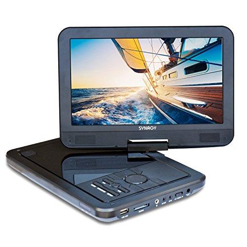 SYNAGY 10.1inch Portable DVD Player CD Player (Black)