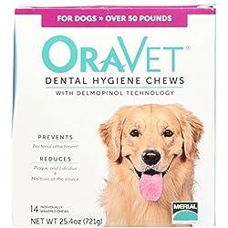 Merial 14 Count Oravet Dental Hygiene Chew for Large Dogs