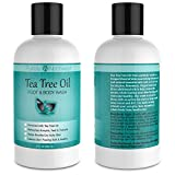 Antifungal Tea Tree Oil Body Wash, Helps Athletes Foot, Ringworm, Toenail Fungus, Jock Itch, Acne, Eczema & Body Odor- Soothes Itching & Promotes Healthy Feet, Skin and Nails 9oz.