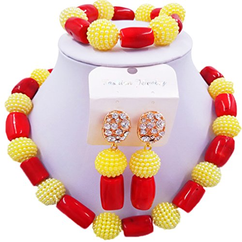 Jewelry Red Coral Bead Necklace - 8