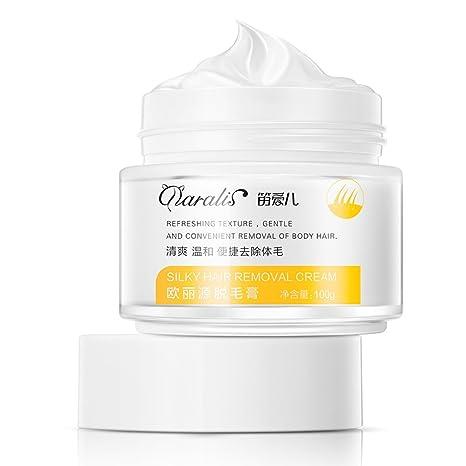 Crema para el cabello para hombres mujeres Rápidamente suave uso de la loción removedor de pelos